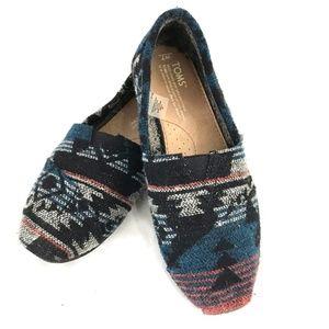 Toms wool slip on classic shoes flats W7 boho